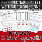 Forensics | Blood Basics + Blood Typing Summary Text + Mini WebQuest