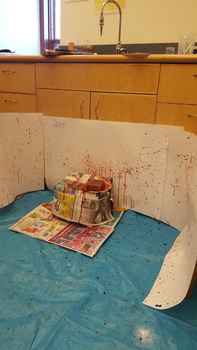 Forensics - Blood spatter analysis lab student led activity