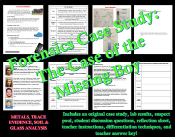 Forensics Case Study The Case Of The Missing Boy By Science Teacher Haven