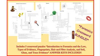 Forensics Crossword Puzzle Bundle 1