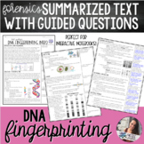 Forensics - DNA Fingerprinting (Profiling) | Summarized Text with Questions
