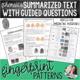 Forensics - Fingerprint Patterns Summarized Text with Questions