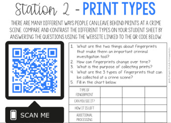 Forensics | Fingerprint QR Code Stations