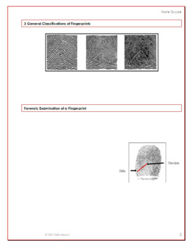 Forensics: Fingerprinting Note Guide with FREE Prezi
