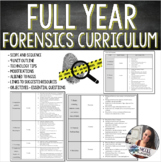 Forensics | Full Year Curriculum Pacing Outline - NGSS ALLIGNED