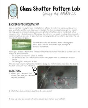 Forensics | Glass Shatter Pattern Lab