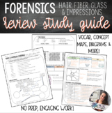 Forensics | Hair, Fiber, Glass, Impressions Study Guide Review