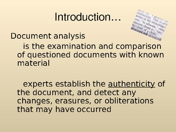 Forensics: Handwriting Analysis, Forgery, and Counterfeiting