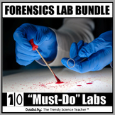 """Forensics Lab Bundle: 10 """"Must-Do"""" Labs for Forensic Science"""