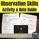 Forensics: Observation Skills Activity and Note Guide to Accompany FREE Prezi