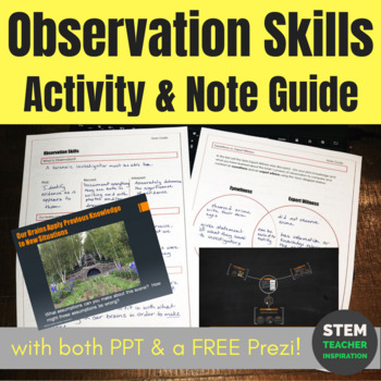 Forensics Observation Skills Lecture Presentation Activity Note Guide