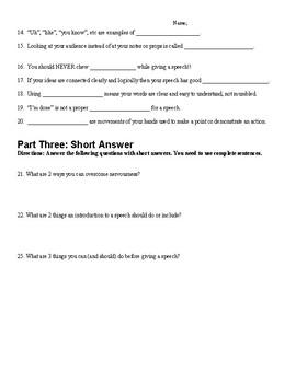 Forensics & Public Speaking Quiz