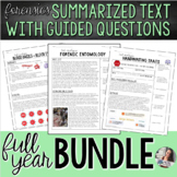 Forensics | SUMMARIZED TEXT WITH QUESTIONS (Growing Bundle!)