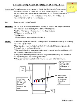 Forensics Science Lesson Four
