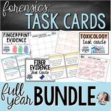 Forensics | Task Cards - EDITABLE FULL YEAR BUNDLE
