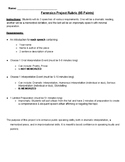 Forensics Theater Project Rubric & Instructions