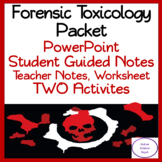 Forensics Toxicology Packet: Complete Lesson + TWO Activties