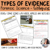 Forensics - Types of Evidence Webquest