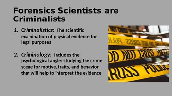 Forensics Unit 1 PPT: Forensic Science & the Law