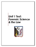 Forensics Unit 1 Test: Forensic Science & the Law