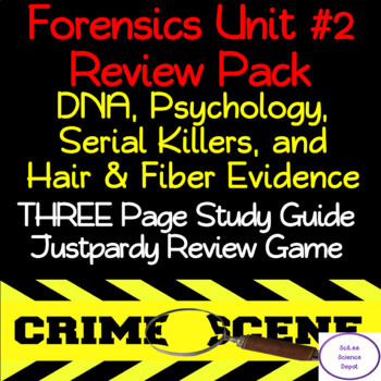Forensics Unit #2 Review Pack: DNA, Psychology, Serial Killer, Hair & Fiber