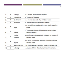 Forensics Vocabulary quiz