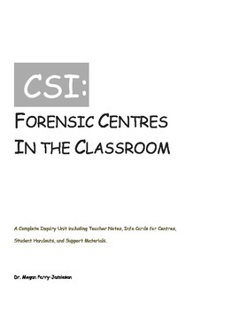 Forensics in the Classroom: A Unit for Middle Schools