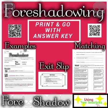 Foreshadowing Definition and Practice Worksheet