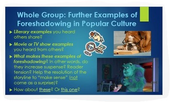 Foreshadowing: ELA Common Core PPT with Digital Examples + Analysis!