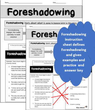 Foreshadowing Instruction and Practice