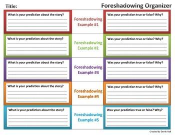 Foreshadowing Organizer