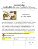 Foreshadowing: Reading Passage (Strega Nona), Graphic Orga