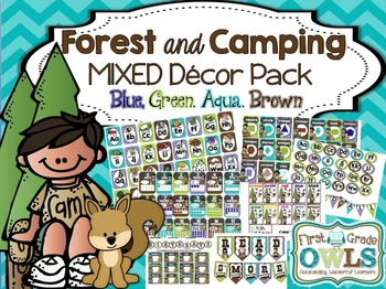 Forest AND Camping MIXED Decor Pack