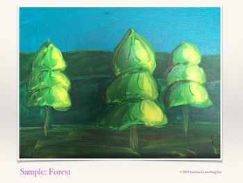 Art Lesson for Elementary - Fun Forest (Acrylic Paint)