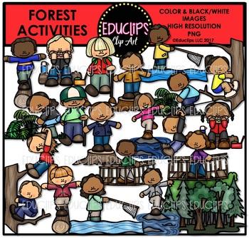 Forest Activities Clip Art Bundle {Educlips Clipart}