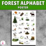 Forest Alphabet A4 Poster