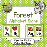 Forest Animal Alphabet Signs