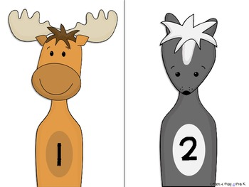 Forest Animal Bowling (Numbers 1-10)