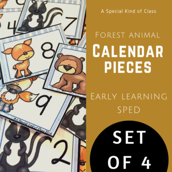 Forest Animal Calendar Numbers - Set of four