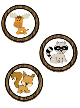 Forest Animal & Camping Theme Center Signs