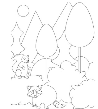 Forest Animal Children's Coloring Page