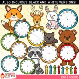 Forest Animal Clocks Clip Art