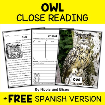 Close Reading Passages - Forest Animal Activities