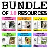 Forest Animal Close Reading Passages Bundle