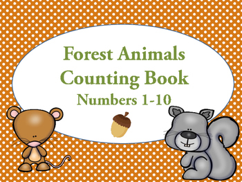 Forest Animal Counting Book - Number Practice