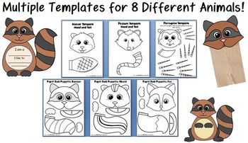 Forest Animal Crafts, Alphabet and Counting Printables