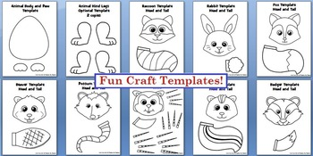 Forest Animal Crafts, Literacy and Early Research Writing