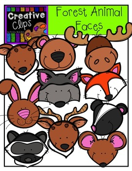 Forest Animal Faces {Creative Clips Digital Clipart}
