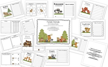 Forest Animal Informational Books