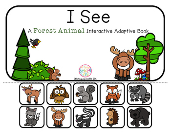 """Forest Animal Interactive Adaptive books - set of 2 (""""I See and """"How Many?)"""